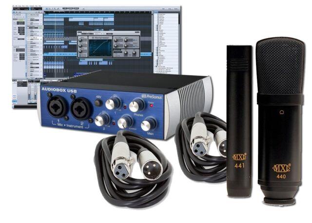 PreSonus AudioBox USB Recording Studio Bundle w/ Studio One & MXL Studio Mics