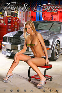 Car fast naked woman