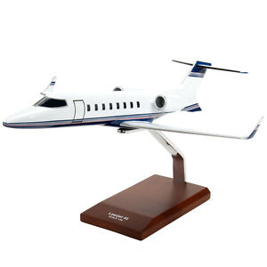 Learjet-45-Desk-Top-Display-Business-Blue-Model-Private-1-35-Aircraft-Airplane