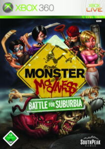 Monster-Madness-Battle-For-Suburbia-Microsoft-Xbox-360-2007-DVD-Box-NEU
