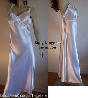 4X white SATIN LONG NIGHTGOWN LINGERIE PLUS SIZE 4X