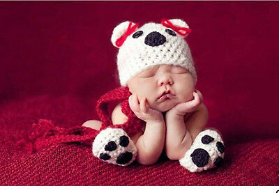 Cute Baby Infant Puppy Dog Knitted Costume Photo Photography Prop Newborn L8