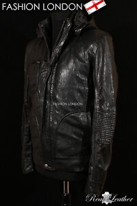 GHOST-PROTOCOL-Black-Men-039-s-Mission-Impossible-Film-Real-Hooded-Leather-Jacket