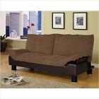 Coaster Futon Sofa Bed in Brown Microfiber (VFAZ0048782x30465)