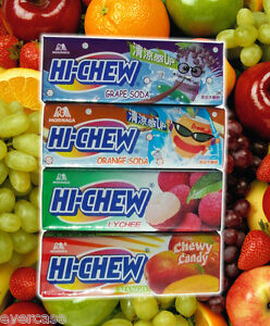Japanese-Morinaga-Hi-Chew-Chewy-Fruit-Candy-1-Pack-of-7-Sweets-Various-Flavours