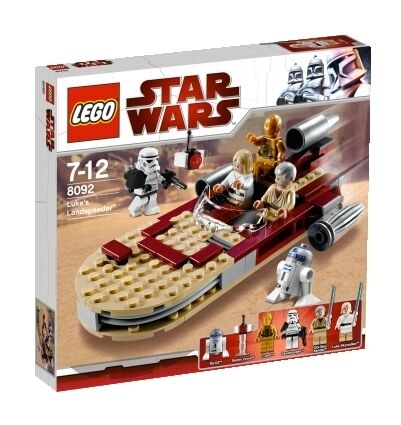 LEGO STAR WARS 8092 Luke's LANDSPEEDER 6 Mini-Figures Ages 7+ Retired Set SEALED