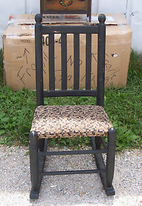 Rustic-Black-Rocker-Rocking-Chair-R111
