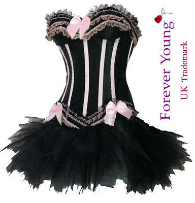 Burlesque Moulin Rouge Lolita FANCY DRESS Costume Corset Dress Outfit All Sizes