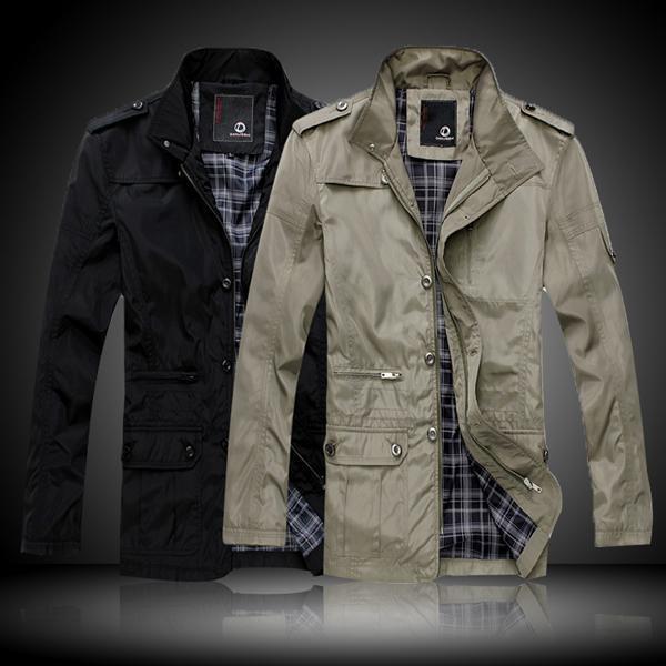 Fashion Mens Winter Jacket Coat Cotton Padded Black or Khaki Size M~XXL Hotter