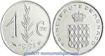 MONACO , RAINIER  III , 1 CENTIME  ARMES  DES  GRIMALDI    1995  FLEUR  DE  COIN