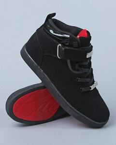 new cadillac footwear black mono nubuck hi top