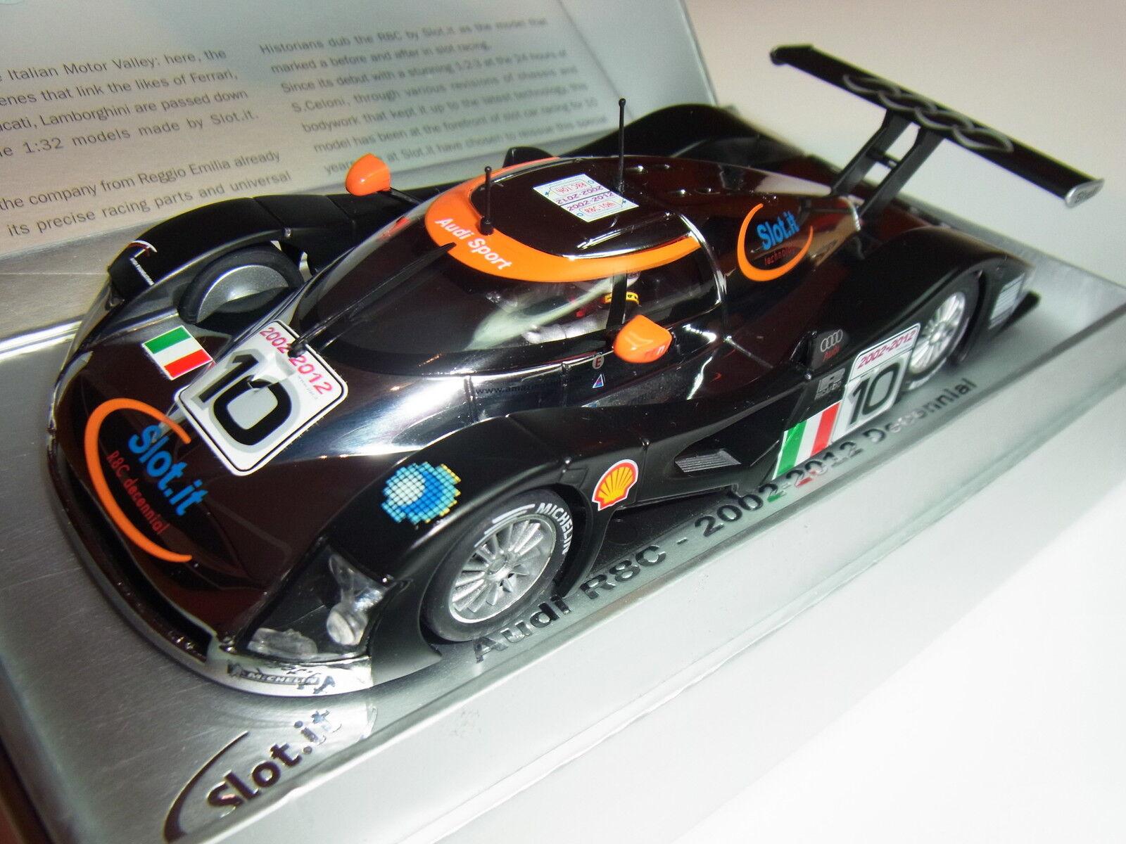 Slot  Audi R8C 2002-2012 10 Jahre Slot It Límit. para Circuito de Slot 1  3 2