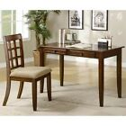 Desks Wood Table Desk with Two Drawers & Desk Chair by Coaster (800778)