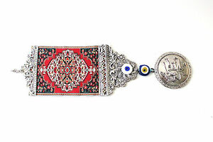 Evil Eye Wall Hanging vintage silver tone evil eye wall hanging tapestry turkish islamic