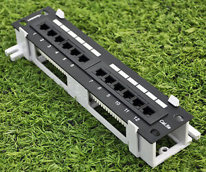 PATCH-PANEL-12-PORT-WALL-amp-10-034-RACK-Both-Mountable-New