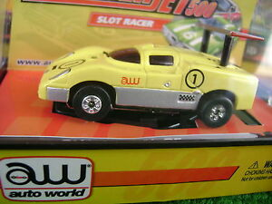 Sold Out Autoworld Thunderjet Rel 2 Yellow Chapareal 2F HO Slot Car Fit Aurora