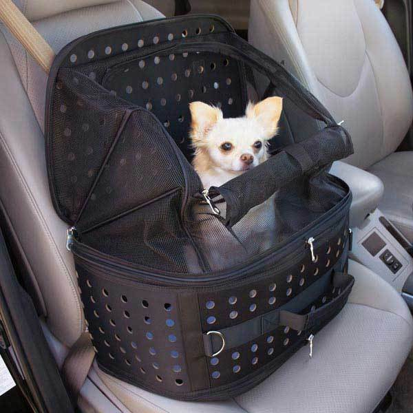 Small Dog Carrier & Car Seat in 1 - Collapsible Pet Travel Bag Cage Chihuahua