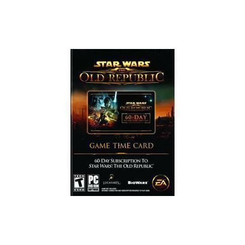 Star Wars The Old Republic 60 Day Pre-Paid Card Game Sub, Sealed free  shipping