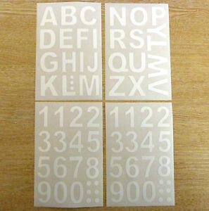 Mm White Sticky Vinyl Letters Or Numbers Stickers SelfAdhesive - Self adhesive vinyl letters
