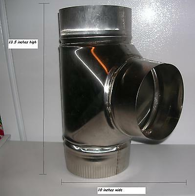 8 inch stove pipe Stainless Steel Clean Out Tee