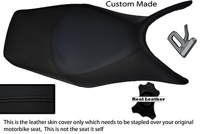 BLACK CUSTOM 06-12 FITS HONDA DEAUVILLE NT 700 LEATHER SEAT COVER