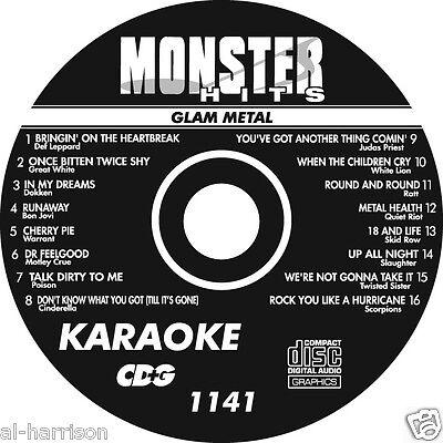 KARAOKE MONSTER HITS CD+G GLAM METAL  #1141