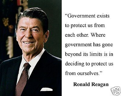 "Ronald Reagan "" government exists to protect"" Quote 8 x 10 Photo Picture #hg1"