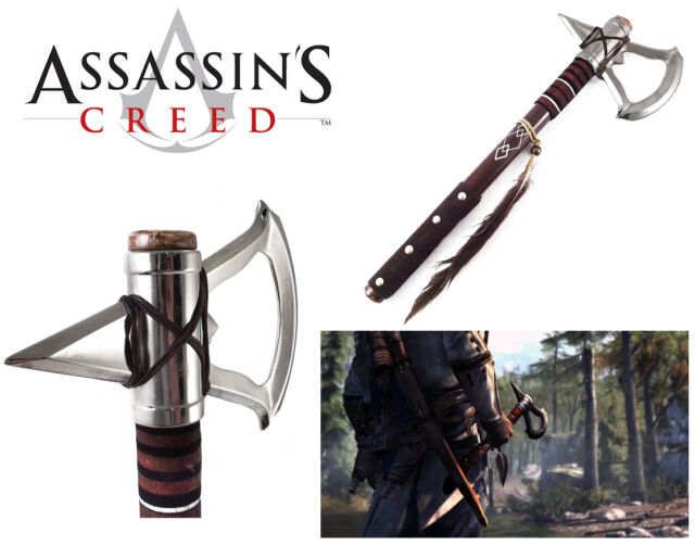 """The Battle Axe of ASSASSIN'S CREED 3 VIDEO GAME TOMAHAWK CONNOR'S AXE 17.5"""""""