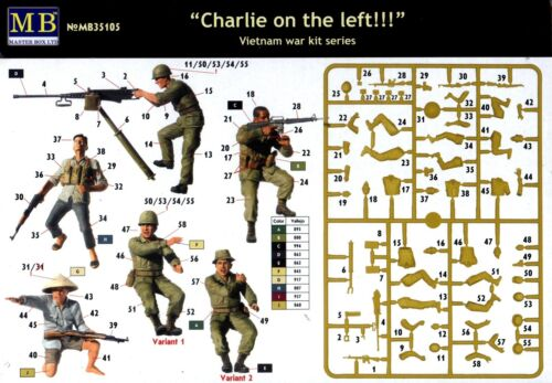 Vietnam War Master Box MB 1//35 35105 Charlie on the left US Marines /& Charlie