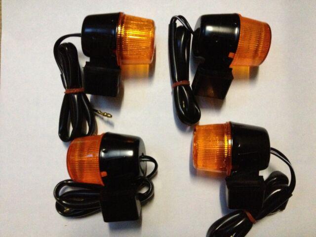 4 Stück Blinker im SET vorne + hinten Yamaha TT 600 36A 59X ´83-89 E-geprüft NEU
