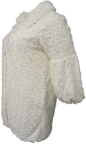WOMENS LADIES PLUS SIZE LONG FUR JACKET FAUX FUR LONG MAC COAT BLACK//WHITE 16-32