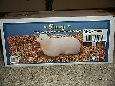New White Christmas/Easter Lamb/Sheep Blow Mold Lighted Decoration