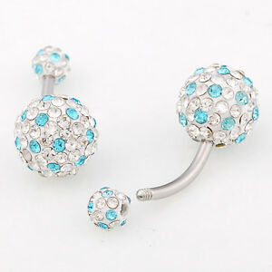14G-cz-crystal-hip-ball-beads-surgical-steel-belly-navel-ring-piercing-FR114