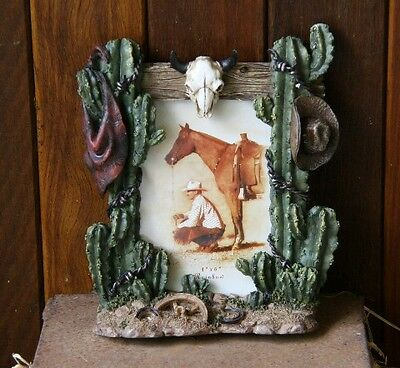 Cactus Desert Cowboy themed photo frame - Horse, Cowboy, Western, Rodeo Theme