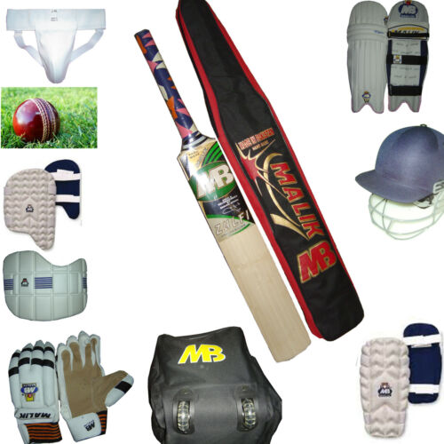11 Pcs Cricket Kit Set Bat Ball Helmet Pad Leg Guard Gloves