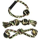 Rope And Tennis Ball Camo Dog Toy - Ring Dog Toy (CAMO)