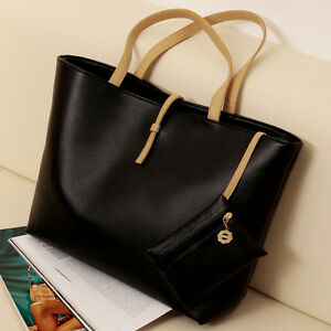Womens-PU-leather-Zip-Handbag-Tote-Shoulder-Bag-Purse-High-Quality-Fashion-Hot