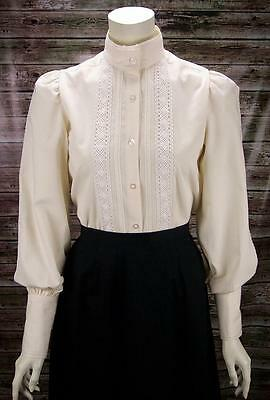 FRONTIER CLASSICS Victorian Ivory Lace Grace Blouse SASS Steam punk Dickens