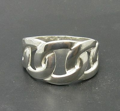 STYLISH STERLING SILVER RING LINKS 925 SIZE H - V NEW