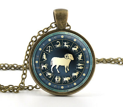 Zodiac Necklace Pendant - Astrology Star Sign Jewellery - Personalised Xmas Gift