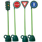 Italtrike 4-Piece Traffic Signage Set - Light, Stop Sign, Yield Sign and Crosswalk