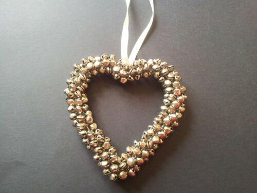 Valentines Heart Wreath Red Silver Cluster Mini Bells Hanging Wedding Home Dec