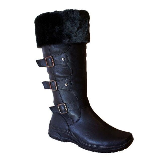 Snow Boots Winter Women S Size Shoes New Black Knee Calf Womens Warm Fur 9 5 8
