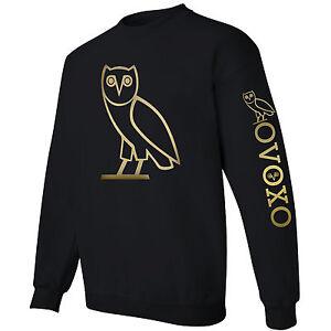 Ovoxo Ovo Drake Owl Sweater Crewneck Sweatshirt Gold Logo