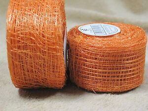 1-1-2-034-Coral-Sinamay-Ribbon-for-Fascinator-Hats-Millinery-Crafts-Wreaths-20-Yds