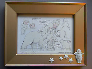 Dept-56-Snowbabies-Friendship-Club-Nice-To-Meet-You-Little-One-Framed-Picture