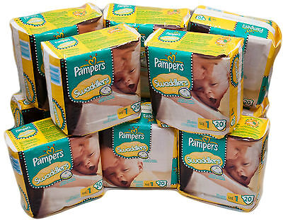 Pampers Swaddlers Size 1 /  240 Count (12 Packs of 20)