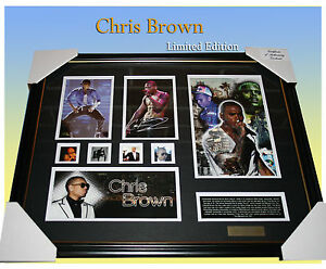 CHRIS-BROWN-SIGNED-MEMORABILIA-LIMITED-EDITION-499-COA-FRAMED-READY-TO-HANG