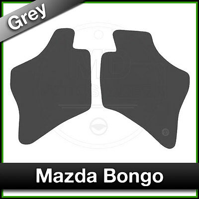 Tailored Fitted Carpet Mats MAZDA BONGO Front Grey