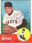 1963 Topps Jim Duffalo San Francisco Giants #567 Baseball Card
